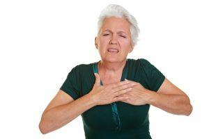 לחץ בחזה - תסמין לאלרגיה